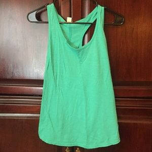 Mossimo Supply Co. Tops - Mint Racerbank one inch strap tank